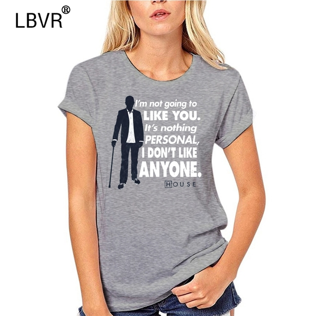 House M.D I Don/'t Like Anyone Licensed Adult T Shirt