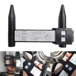 Uniwersalny 4 5 6 8 otwory Lug obręcz koła samochodu wzór pomiaru PCD narzędzie pomiarowe profesjonalne akcesoria samochodowe|Grubość narzędzie do wykrywania|   -