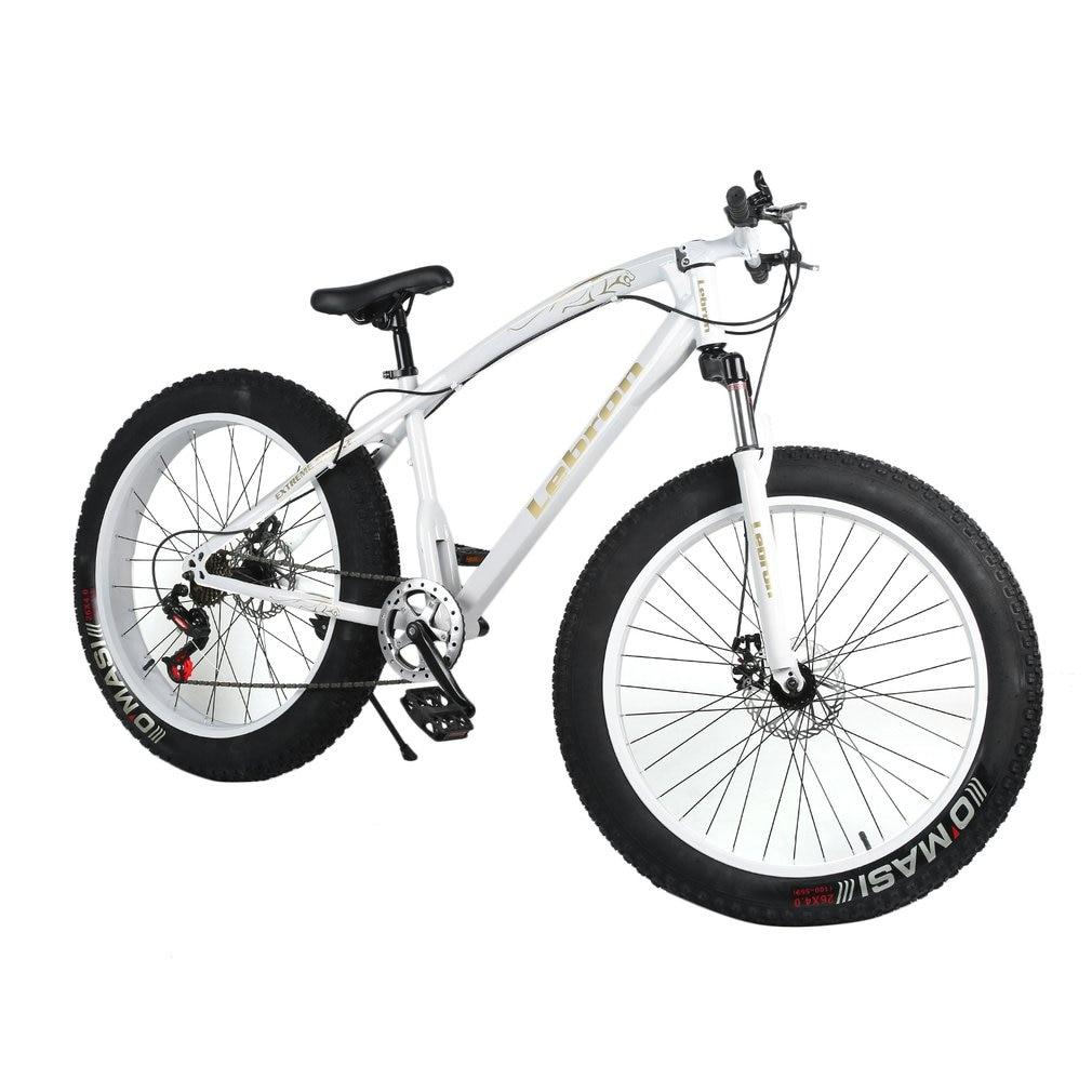 26*21 дюймов 7 Скорость снеговой велосипед двойной диск торможения Системы велосипеда Сталь рама горный велосипед Спорт на открытом воздухе в...