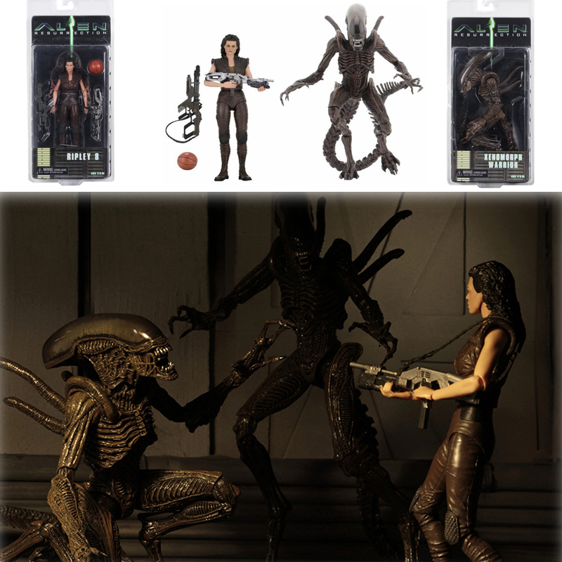 Original NECA <font><b>Alien</b></font> Series 14 Ripley 8 Resurrection Xenomorph WarriorAction Figure Model Toys Doll For Gift image