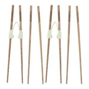 Image 5 - Palillos de entrenamiento antideslizantes que ayudan a comer individualmente