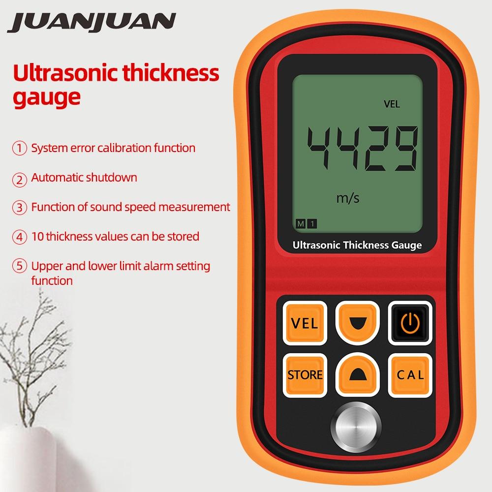 Digital Ultrasonic Thickness Gauge GM100 1.2~225mm Sound Velocity Meter 1000-9999 M/s Metal Glass Measuring Instruments 40%off