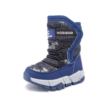 Kids Snow Boots Trendy Keep Warm Anti-slip Shoes Boys Winter Shoes Girls Plush Waterproof Childrens Shoes Woolen Lining Non-Slip