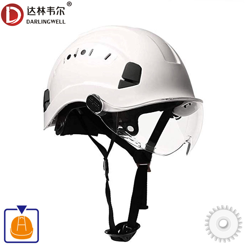 Safety Helmet With Goggles Construction Hard Hat High Quality ABS Protective Helmets Work Cap For Working Climbing Riding