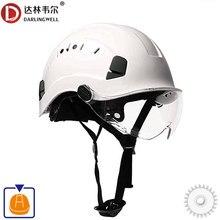 Hełm ochronny z goglami kask budowlany wysokiej jakości kaski ochronne ABS czapka robocza do pracy wspinaczka konna