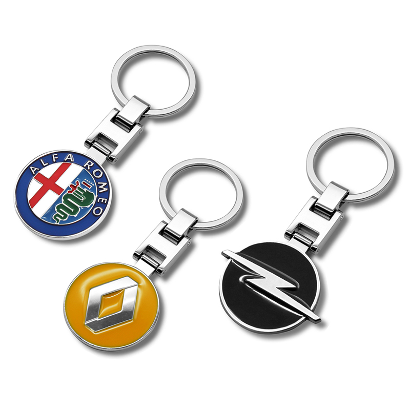 3D Metal alloy <font><b>Car</b></font> <font><b>Styling</b></font> Fashion <font><b>Keychain</b></font> Key Chain Key Rings <font><b>For</b></font> <font><b>BMW</b></font> Audi Benz Renault Toyota Honda Suzuki kia Opel Accessori image