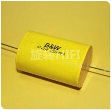 2PCS NEUE UK B & W MPA 47UF 100V 30X55MM axial film kondensator 47UF/100v 100 V476 Audio Axial unpolare kapazität 476 100vdc