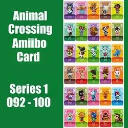 Serie 1 (91 Tot 100) animal Crossing Kaart Amiibo Nfc Kaart Werken Voor Schakelaar Ns 3DS Games Animal Crossing Amiibo Kaarten Nieuwe Blad