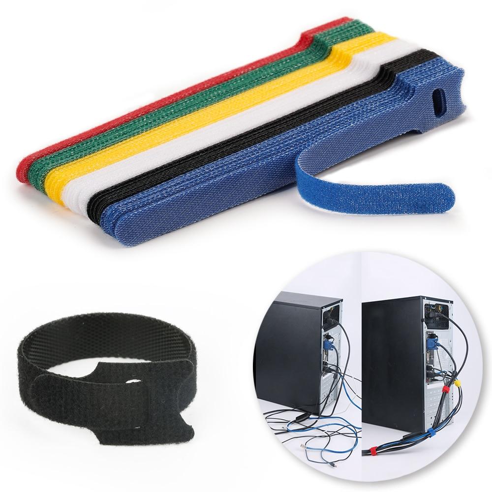 Yeniden kullanılabilir bağları cırt cırt raptiye bant naylon velcros kablo bağları velcros askı tel