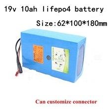 Lifepo4 19v 10ah литиевый аккумулятор с системой управления 6s для резервного питания-встраиваемый уличный светильник светодиодный точечный свет аудио EV+ 2A зарядное устройство