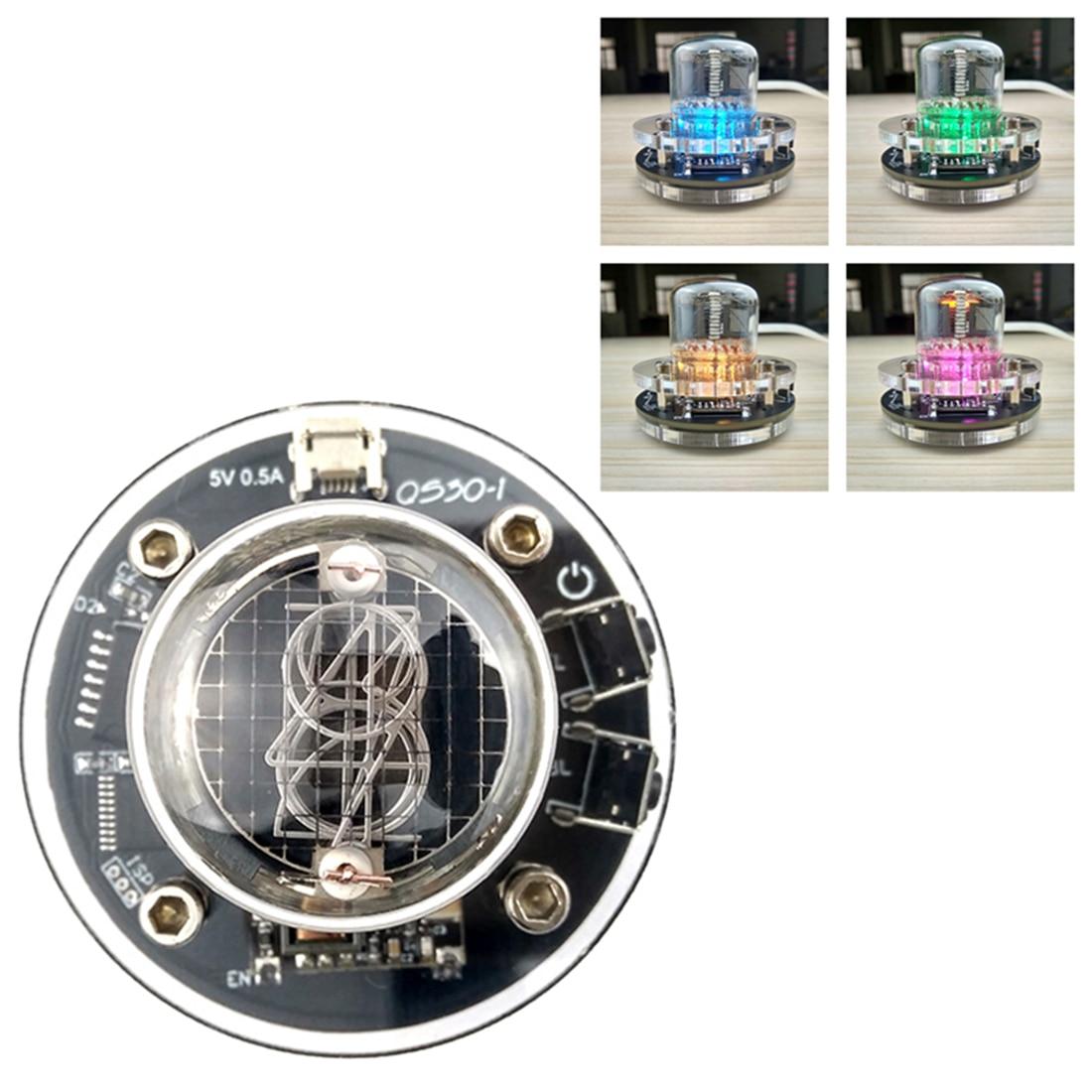 DIY Glow Tube Clock Base Multi-Colored LED Glow Tube Clock For Glow Tube QS30-1 SZ-8 SZ3-1 SZ1-1 ZM1020 (No Glow Tube ) For Kids