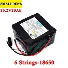 Smallden 24v 20ah 6s6p 18650 li-ion bateria recarregável carrinho de golfe bicicleta elétrica ciclomotor baterias com 25.2v bms