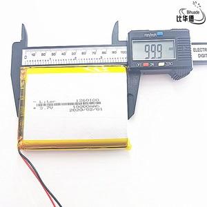 Image 3 - 1/2/5/10 ชิ้น/ล็อตคุณภาพดี 3.7V,10000 mAh,1260100 Polymer LITHIUM Ion/Li Ion แบตเตอรี่สำหรับของเล่น,POWER BANK,GPS,