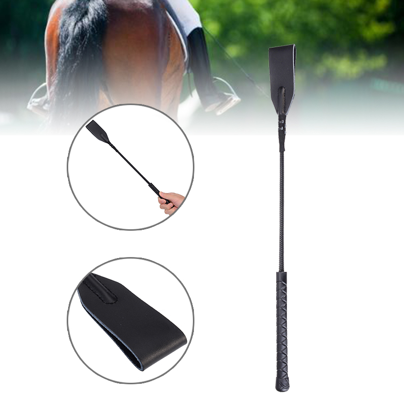 Faux Leather Horsewhips Equestrian Horseback Riding Whips Training Supplies 45CM Portable Lightweight Cosplay Toys