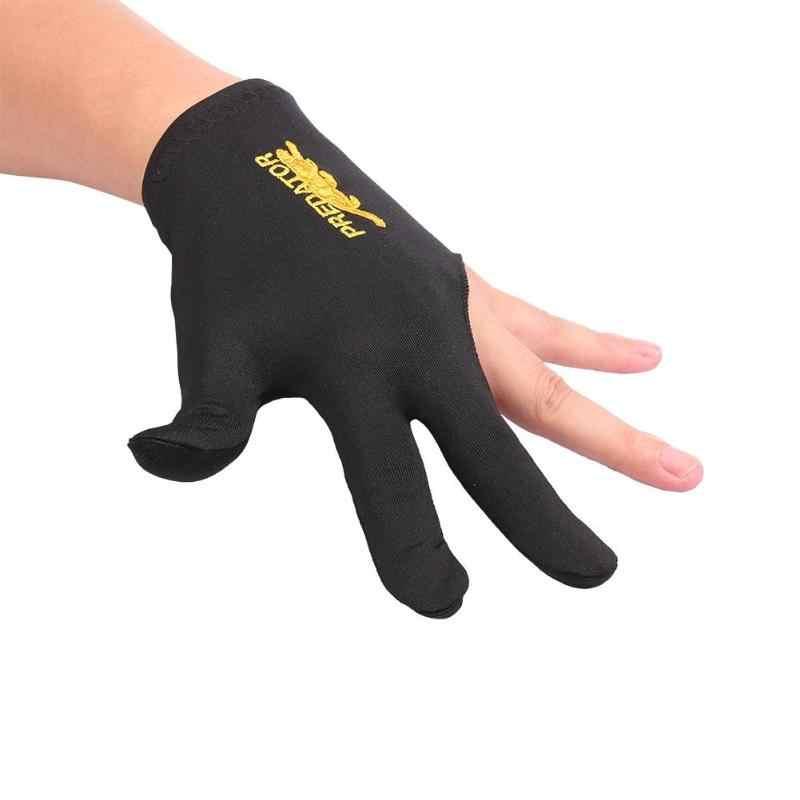 สนุ๊กเกอร์บิลเลียดถุงมือเย็บปักถักร้อยบิลเลียดถุงมือซ้ายมือสามนิ้ว Smooth บิลเลียดคิวถุงมือฟิตเนสอุปกรณ์เสริม