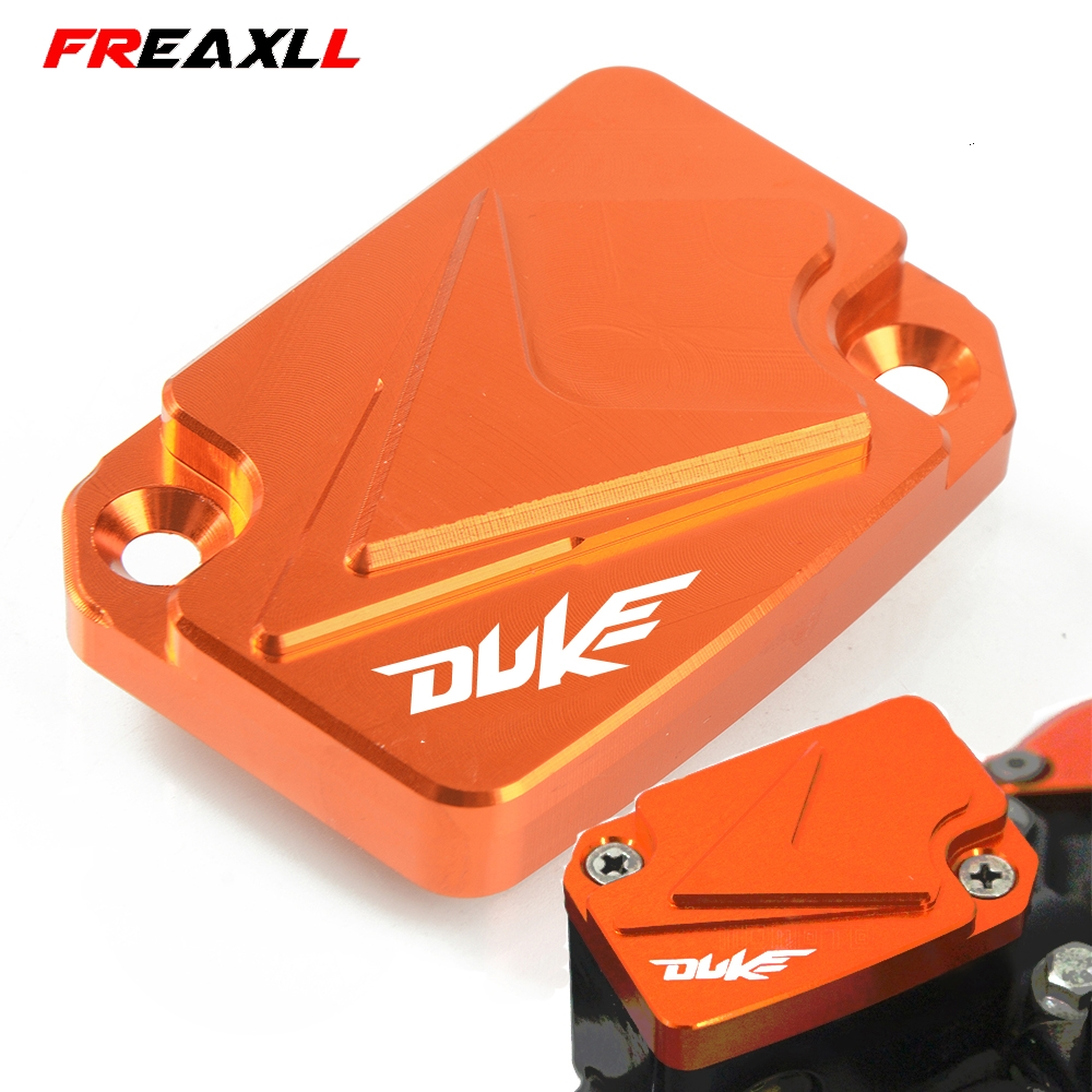 CNC Aluminum Motorcycle Brake Fluid Fuel Reservoir Cover Cap For KTM DUKE 125 2011-2018 2012 2013 2014 2015 2016 2017 image