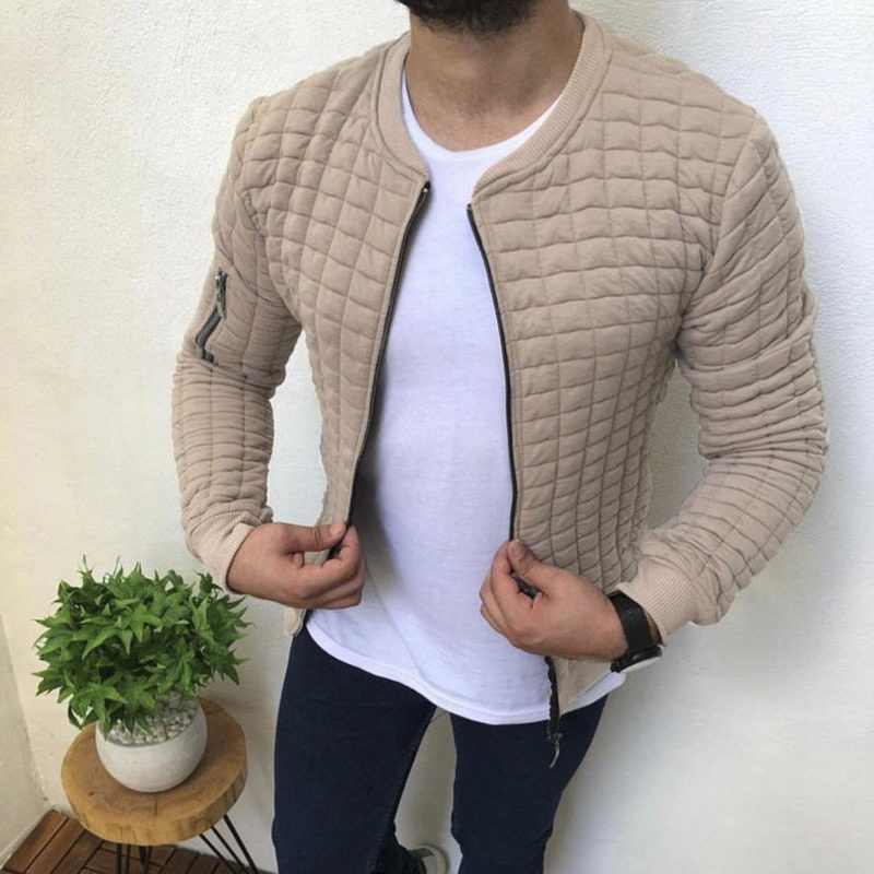 Litthing Quality Men's Autumn Pleats Fit Jacket Zipper Casual Cardigan Coat Sports Casual Men Hip Hop Man Jacket Bomber Jackets