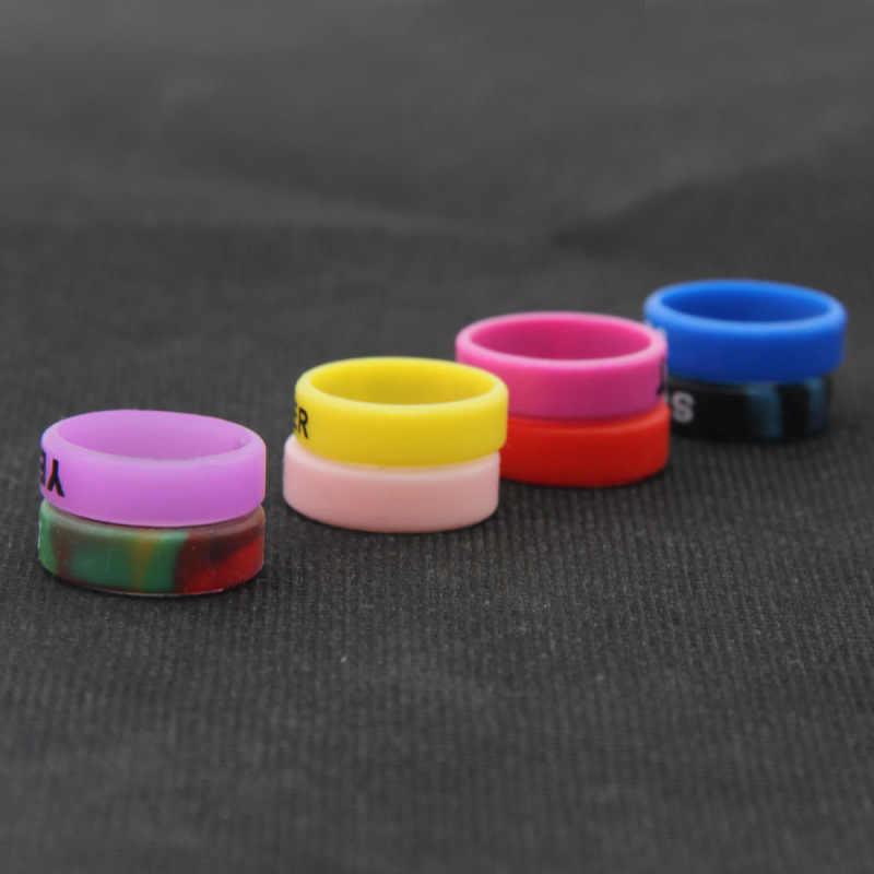 10 cái Nhiều Màu Sắc viền Silicone Chống Trượt Băng Vòng Silicone cho Vape Chống dáng cạp Nhẫn Trang Trí E- thuốc lá Phụ Kiện