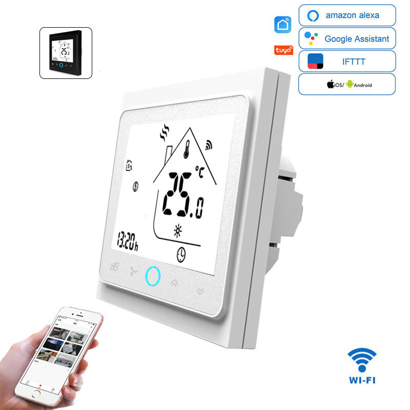 WiFi Smart Thermostat Temperature Controller For Water/Electric Floor Heating Water/Gas Boiler Remote/Voice Control Alexa Tuya