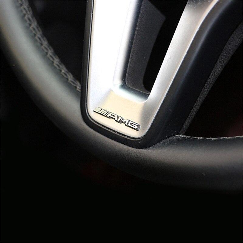 1 PC sticker Car steering wheel Interior sticker For Mercedes Benz AMG GLC GLE CLA GLA W205 W211 W213 Badge car styling