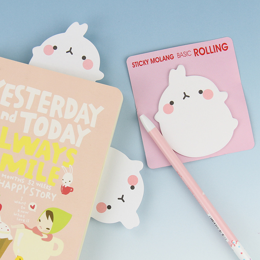 1PC Cute  Rabbit Self Adhesive Memo Pad Sticky Notes Sticker Label Escolar Papelaria School Office Supply