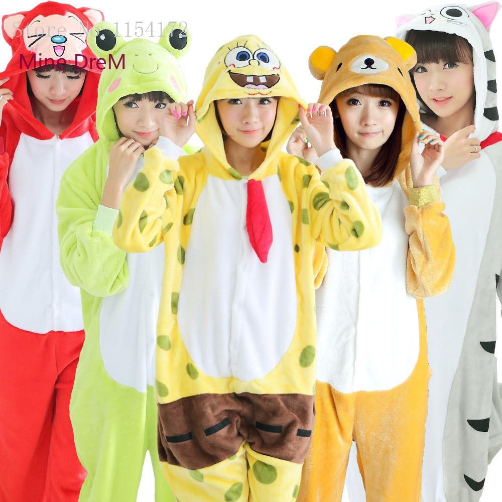 Kigurumi Animal onesies Pajamas Cartoon costume cosplay Pyjamas Adult  Onesies party dress Halloween pijamas