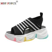 MBR FORCE 2020 Fashion Women Sandals Breathable Summer Wild Colorful Bottom Platform Shoes Wedge Casual Shoes Women Sandalias