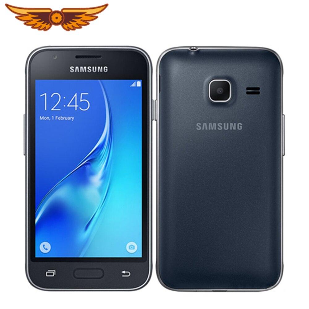 J105 original samsung galaxy j1 mini(2016) 4.0 polegadas quad core 8 gb rom 5.0mp duplo sim cartões desbloqueado telefone móvel