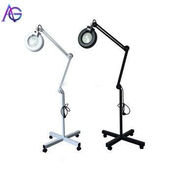 Adg  Floor-Stand-Lamp Magnifier Glass Facial-Light Len 120 Pro 110/220V For Beauty Salon Nail-Tattoo