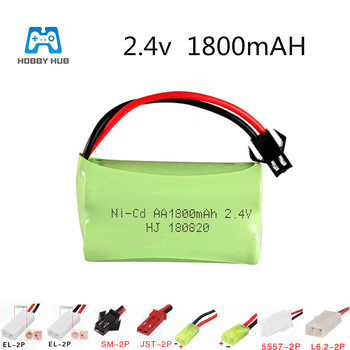 2.4V 1800mAh NI-CD battery for Remote Control toys electric toys lighting facilities RC toys Rechargeable battery AA nicd 2.4V image