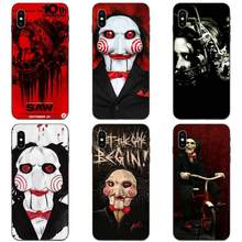 Soft TPU Fashion Cell Phone Case For Xiaomi Redmi Mi Note 2 3S 8 9 Lite SE Pro Custom Saw Mask Man Terrible(China)