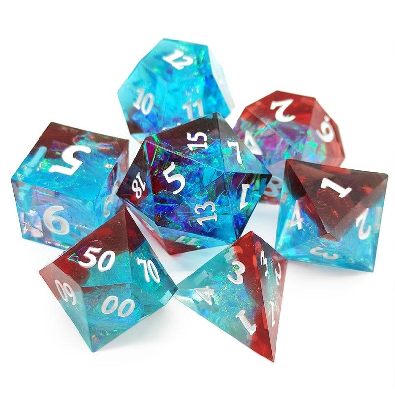7 peças/set de dados de resina dnd rpg rpg jogo de tabuleiro entretenimento dados