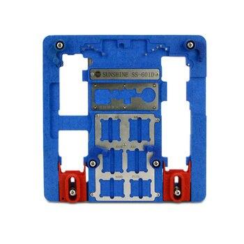 SS-601D placa PCB de acero inoxidable titular de circuito profesional de soporte para teléfono móvil reparación placa base accesorio