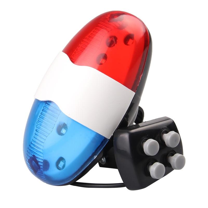 Велосипедный звонок 6 светодиодный 4 тон велосипедный Рог велосипедный Звонок светодиодный полицейский светильник электронная громкая сир...