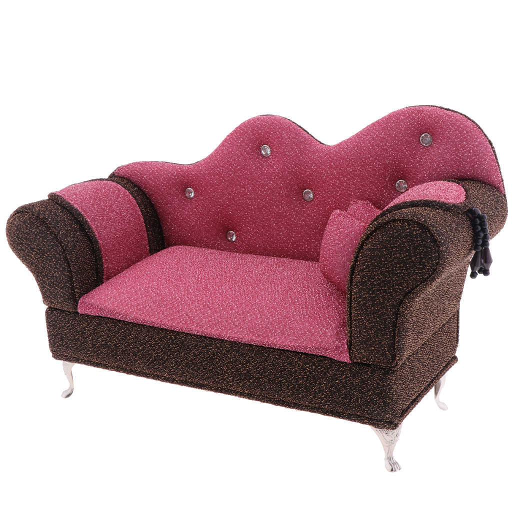 - 1/6 Scale Dolls Furniture Long Sofa Chaise Lounge Recliner Chair