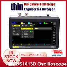 1013d digital tablet osciloscópio duplo canal 100m largura de banda 1gs taxa de amostragem mini tablet osciloscópio digital osciloscópio osciloscópio