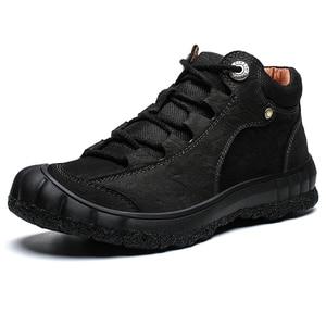 Image 3 - Męskie nowe skórzane buty zimowe utrzymuj ciepłą skórę bydlęcą miękkie na zewnątrz wspinaczka górska toolingskid odporność modne obuwie