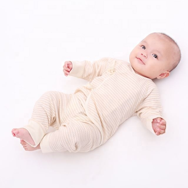 Cotton Stripe Jacquard Long Sleeves Baby Pajama Set for Kids Body Tops+Pants Long Sleeve Baby Boy Girl Clothes Set 0-6M Playfits