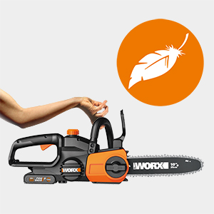WG322E.1 is a fully-featured, and lightweight chainsaw