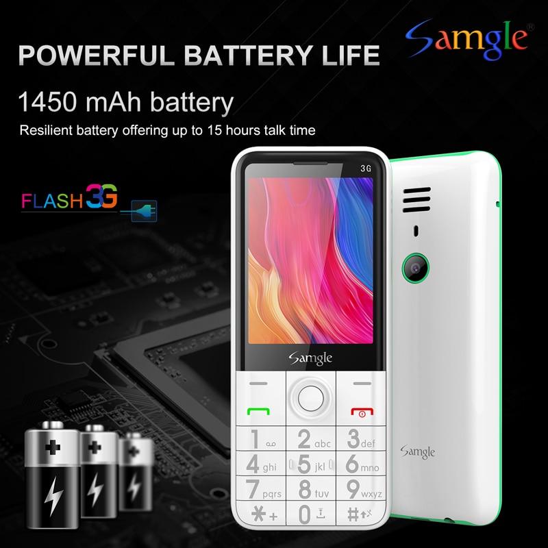 Samgle Bar Feature Cellphone 3G WCDMA Quick Dial 2.8