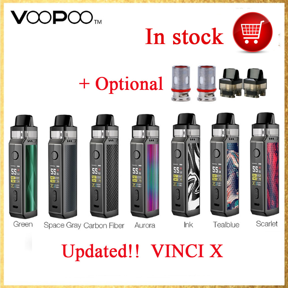 Original 70W VOOPOO VINCI X Pod Kit Wi/ Dual-coil System Powered By Single 18650 Battery No Battery Vape Kit VS Vinci Kit/Drag 2