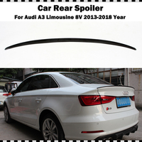 S3 Style Carbon fiber rear trunk wing For Audi A3 limousine sedan 2014 2018 A3 S3 8V CF styling rear spoiler wing