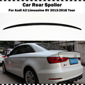 S3 Стиль углеродного волокна задний Багажник крыло для Audi A3 лимузин седан 2014-2018 A3 S3 8V CF Стайлинг задний спойлер крыло
