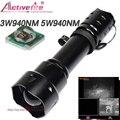 Activefire Точечный светильник 200 м 5 Вт 940nm ИК инфракрасный светильник  38 мм объектив масштабируемый светильник ночного видения для охоты инфрак...