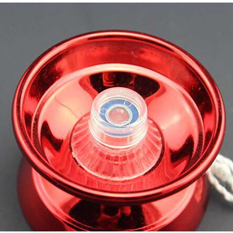 1 Uds clásico de moda de 4 Color de aleación de aluminio profesional bola yo-yo Juguetes Divertidos para niños novela Y eje giratorio Yoyo