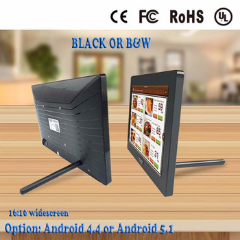 touch screen capacitive tablet pc android 10.1 inch wall mount ABS all in one computer without battery
