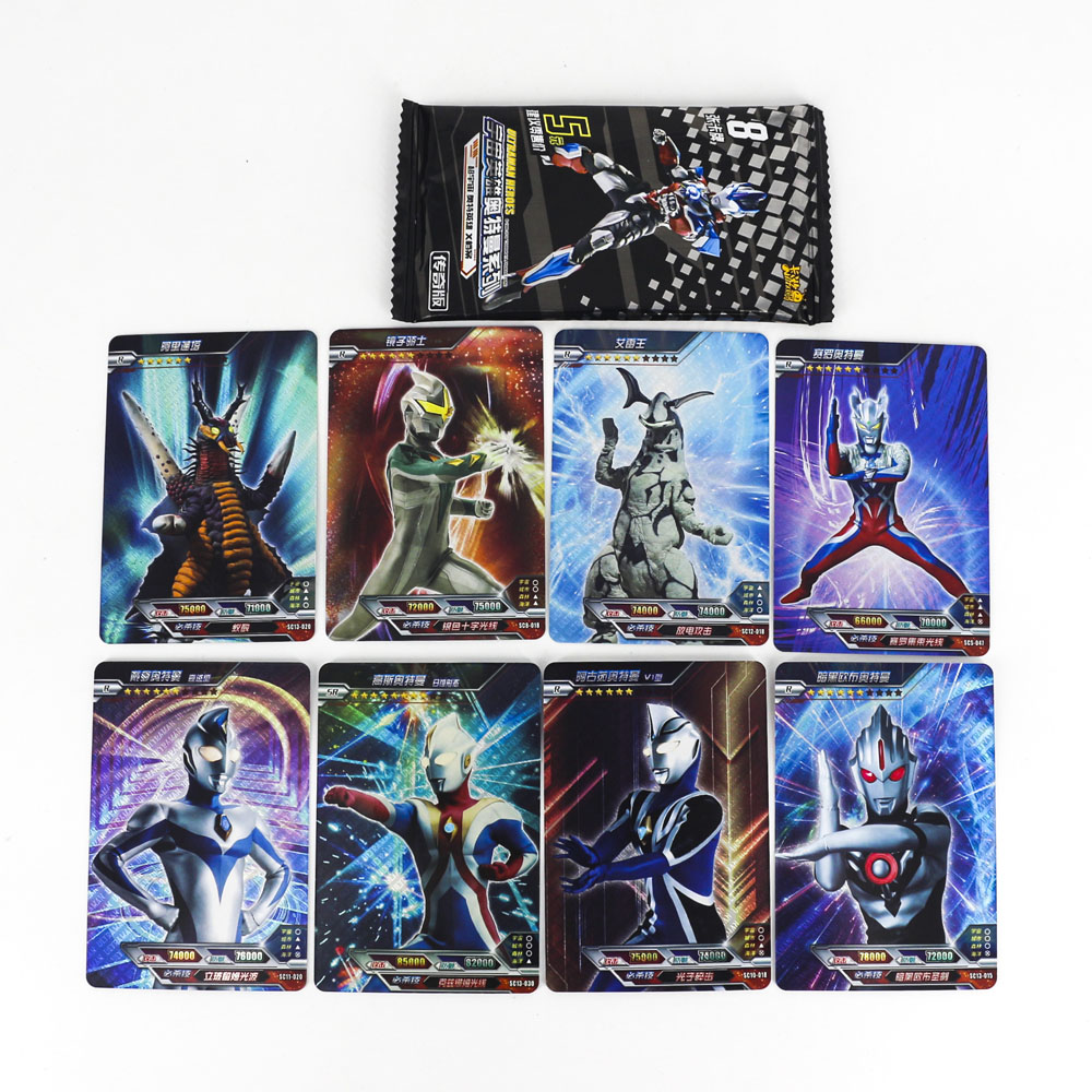 Hot Ultraman Shining Card High Quality Board Game Toys 8 80 160 Flash Cards Kaiju Altman Collection For Kids