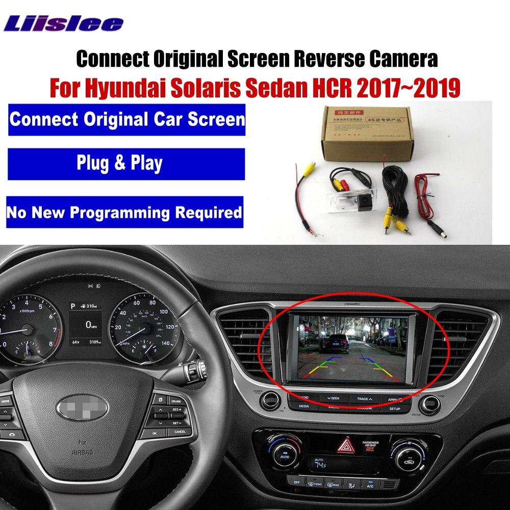 Auto Back Up della Macchina Fotografica di Inverso Per Hyundai Solaris Berlina HCR 2017 2018 2019 Auto di Parcheggio Videocamera Vista Posteriore di VISIONE NOTTURNA di HD