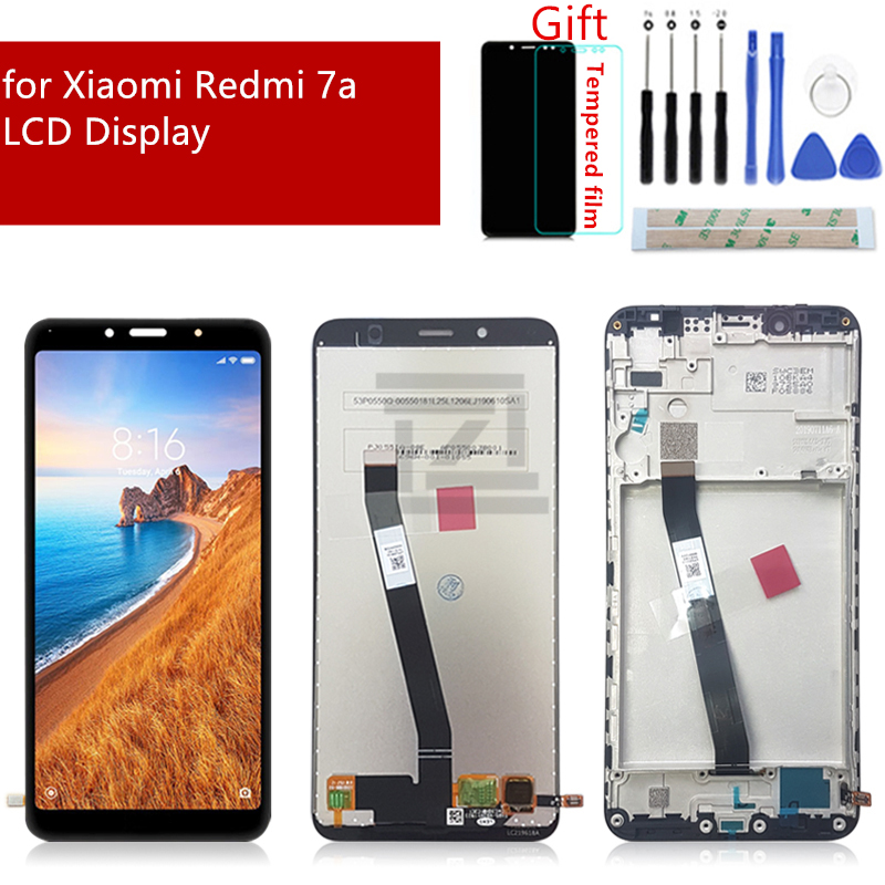 Image 1 - for Xiaomi Redmi 7A LCD Display Touch Screen Digitizer Assembly with Frame for redmi 7a display replacement Repair Spare Parts-in Mobile Phone LCD Screens from Cellphones & Telecommunications on