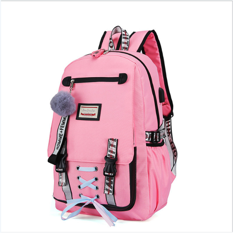 Anti-theft USB Charging Backpack For Women School Book Backpack Shoulder Bag Canvas Backpack Travel Bag